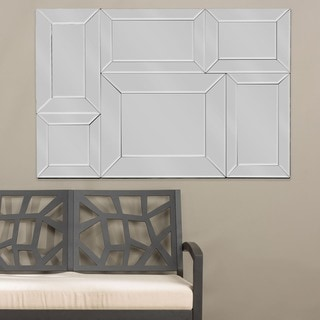 Baxton Studio Geoffrey Rectangle Mirrored Wall Sculpture