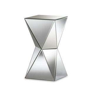 Merveilleux Rebecca Contemporary Multi Faceted Mirrored Side Table