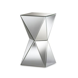 Rebecca Contemporary Multi-Faceted Mirrored Side Table
