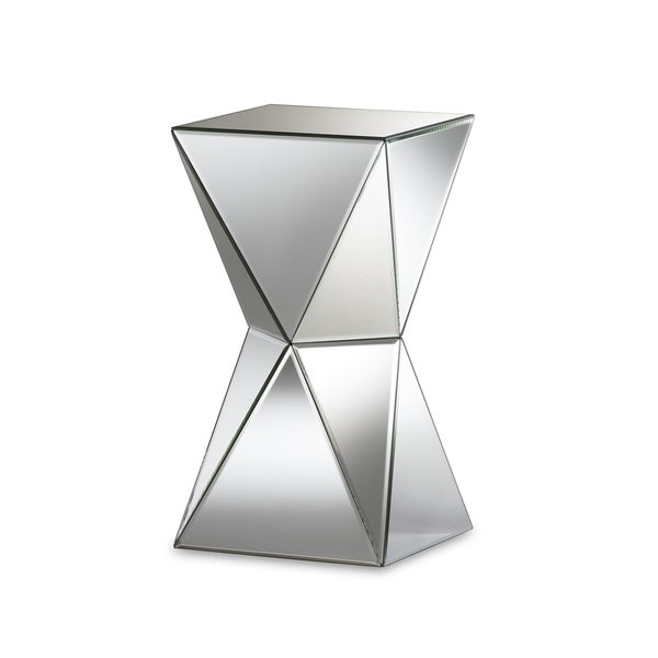Rebecca Contemporary Multi Faceted Mirrored Side Table