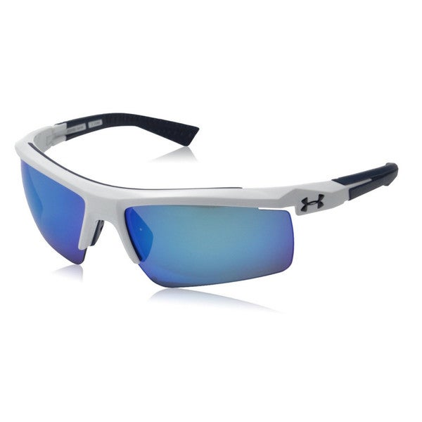 fecdb929d1 Shop Under Armour Core 2.0 Shiny White Blue Multiflection Sunglasses - Free  Shipping Today - Overstock.com - 10161341