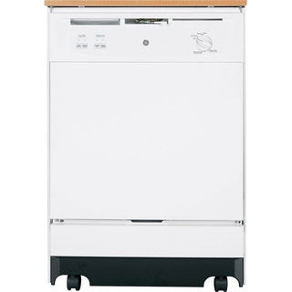 GE 24-inch GENGSC3500DWW Full Console Portable Dishwasher White