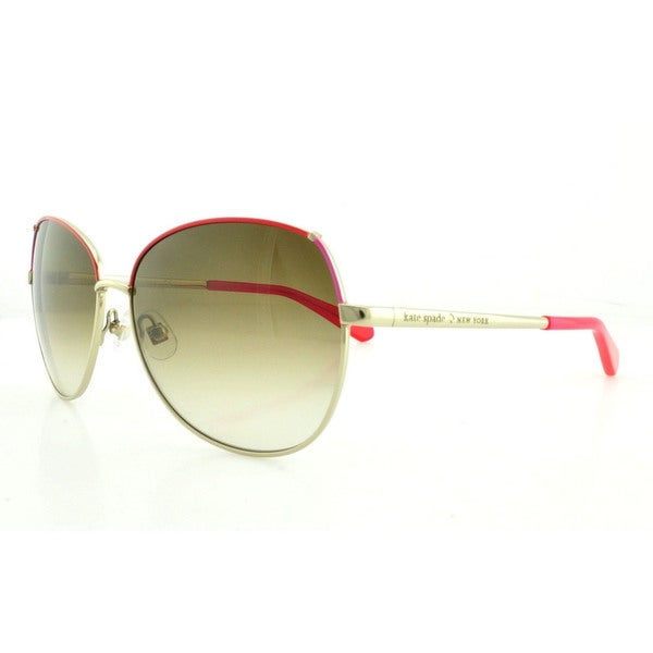 4ff873d281f9 Shop Kate Spade Women's Candida/S Aviator Sunglasses - Gold - Free ...