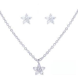 Blue Box Jewels Rhodium-plated Sterling Silver Cubic Zirconia Mini Flower Jewelry Set https://ak1.ostkcdn.com/images/products/10161418/P17290438.jpg?impolicy=medium