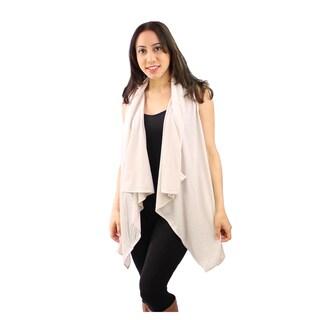 Le Nom Women's Solid Jersey Scarf Vest