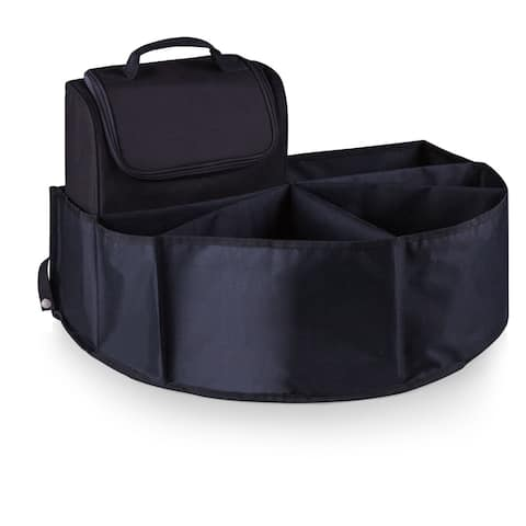Picnic Time Trunk Boss Black Trunk Organizer with Cooler