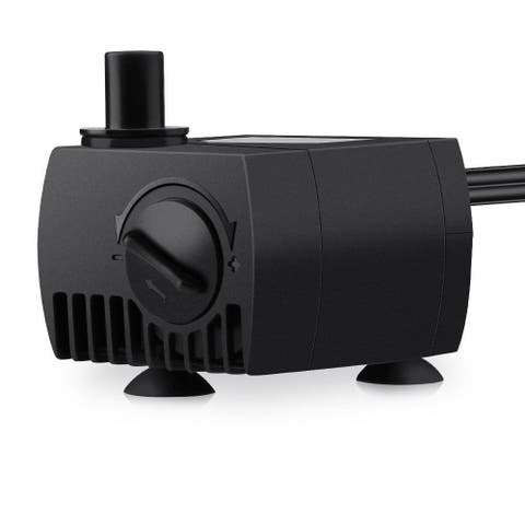 80GPH Submersible Pump Powerhead for Aquarium/ Fountain/ Hydroponics with 4.9 ft. Power Cord - 1pcs