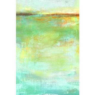Portfolio Canvas Decor Elinor Luna 'Abstract Wash Center' Framed Canvas Wall Art