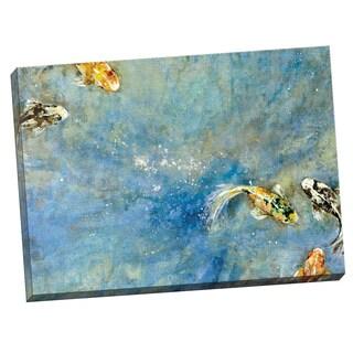 Portfolio Canvas Decor Bridges 'Butterfly Koi' Framed Canvas Wall Art