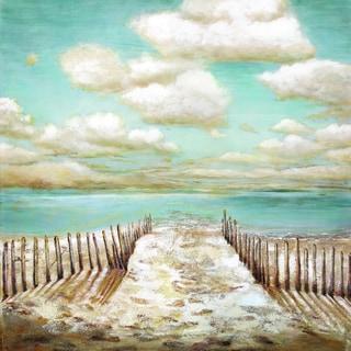 Portfolio Canvas Decor Sandy Doonan 'Drifting' Framed Canvas Wall Art