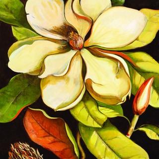 Portfolio Canvas Decor Elinor Luna 'Blossom Magnolia' Framed Canvas Wall Art