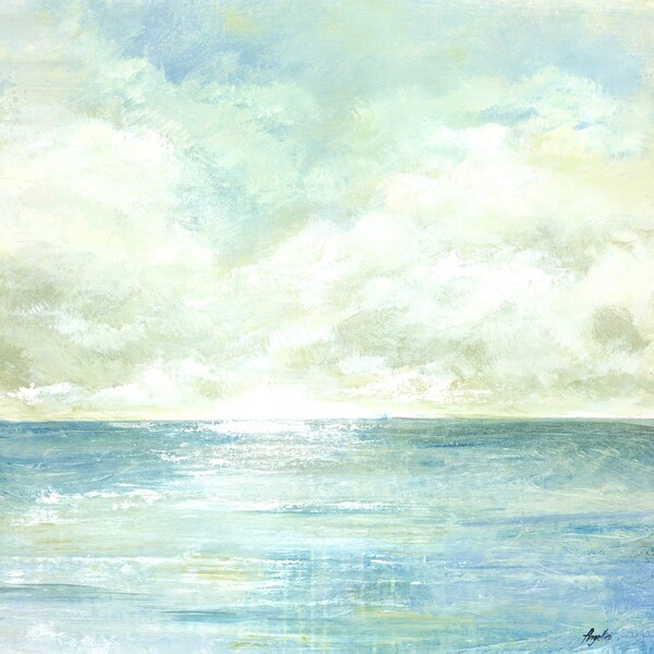 Portfolio Canvas Decor Angellini 'Tranquil Sea I' Framed Canvas Wall Art