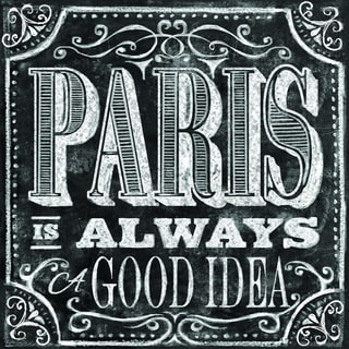 Portfolio Canvas Decor IHD Studio 'Chalkboard - Paris Idea' Framed Canvas Wall Art