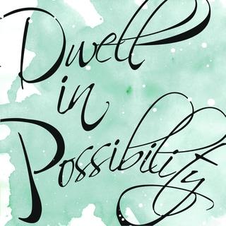 Portfolio Canvas Decor IHD Studio 'Dwell in Possibility' Framed Canvas Wall Art