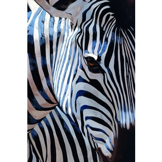Portfolio Canvas Decor P. Charles 'Zebra Stripes' Framed Canvas Wall Art