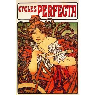 Portfolio Canvas Decor Alphonse Mucha 'Cycles Perfecta' Framed Canvas Wall Art