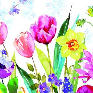 Portfolio Canvas Decor Harrison Ripley 'Tulips & Daffodils I' Framed Canvas Wall Art