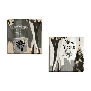 Portfolio Canvas Decor Mindy Sommers 'New York Style I' Framed Canvas Wall Art (Set of 2)