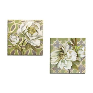 Portfolio Canvas Decor Sandy Doonan 'Flora Pattern I' Framed Canvas Wall Art (Set of 2)