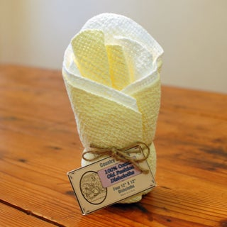 Old Fashion Cotton Dishcloths (4 pack) Some with mixed colors