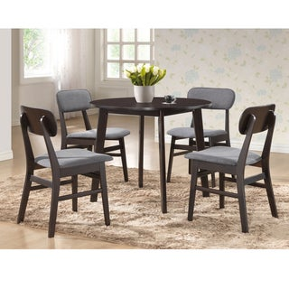 Baxton Studio Montreal Mid-century Solid Wood 5-piece Dining Set