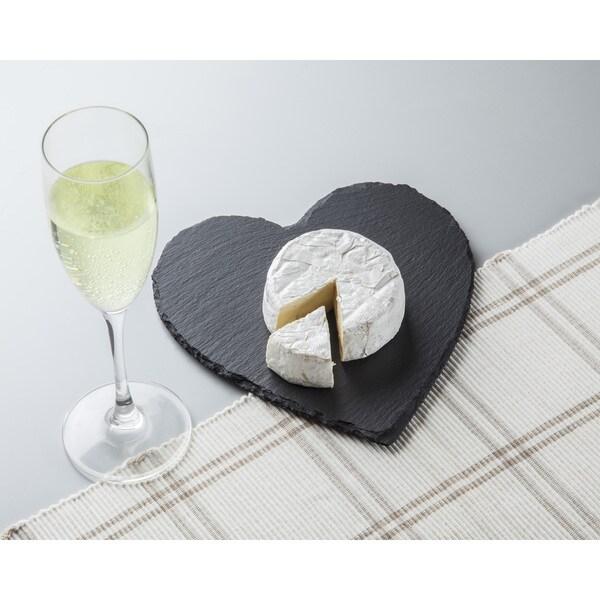 heart shaped slate cheese board
