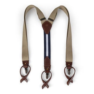 Tommy Hilfiger Men's Solid Color Convertible Suspenders