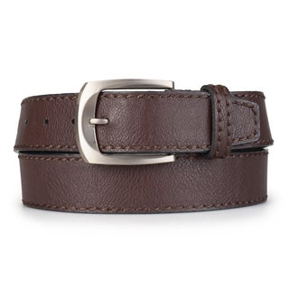 Vance Co. Men's Topstitched Genuine Leather Belt