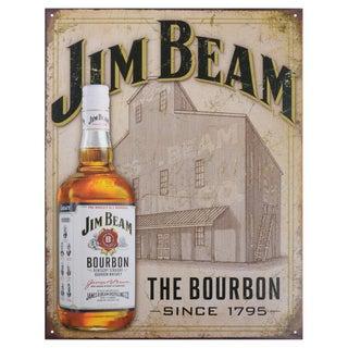 Vintage Metal Art 'Jim Beam Still House' Decorative Tin Sign