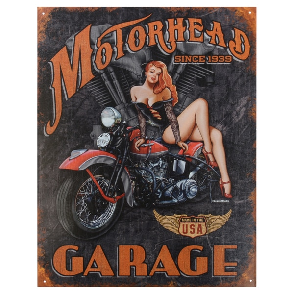 Vintage Metal Art 'Legends Motorhead' Decorative Tin Sign