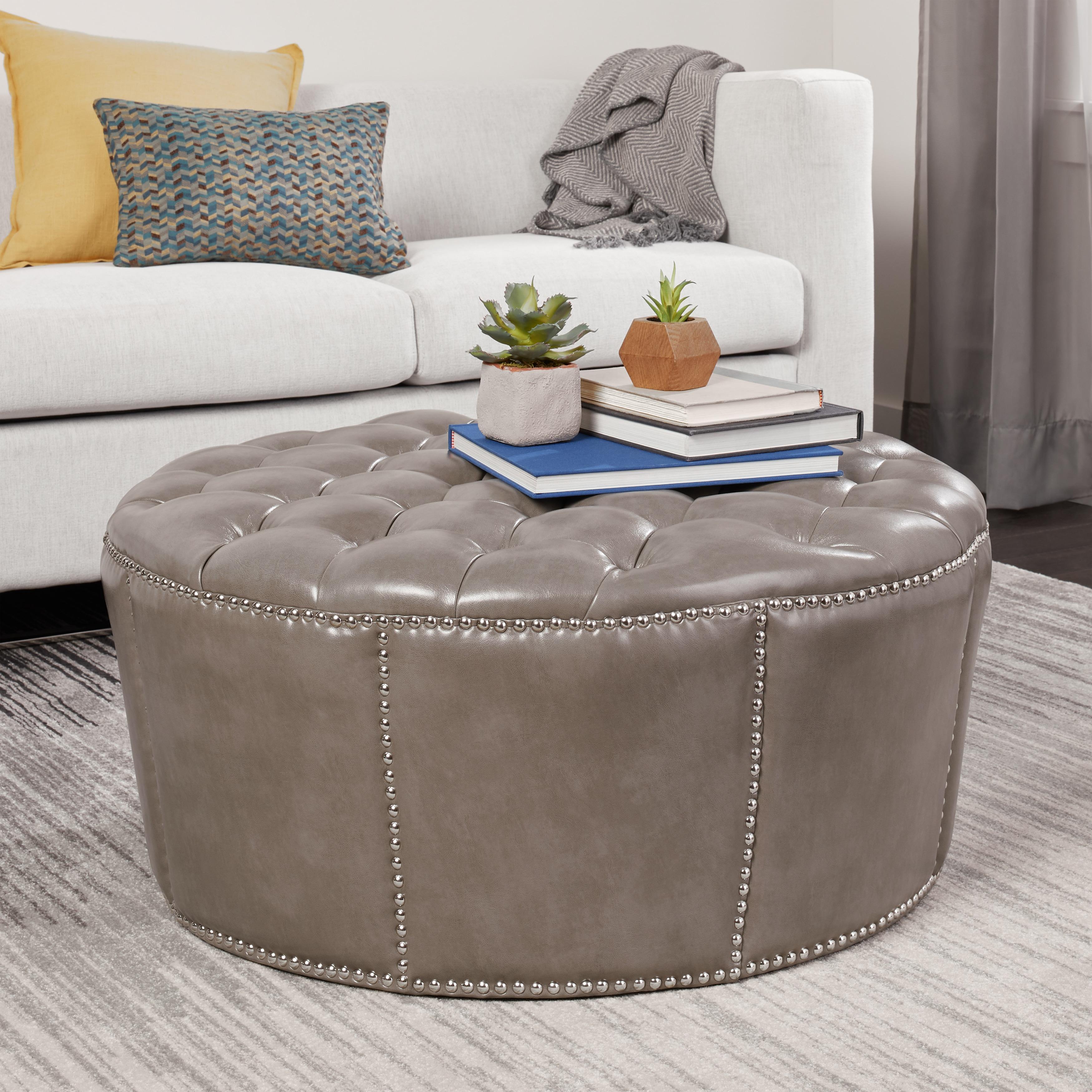 Abbyson Newport Grey Leather