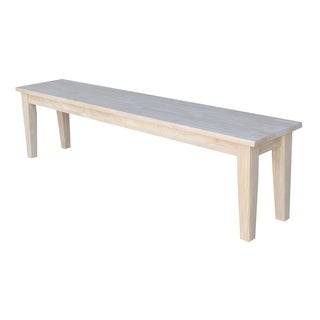 Shaker-style Natural Wooden Bench