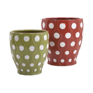 Dottie Earthenware Planters (Set of 2)
