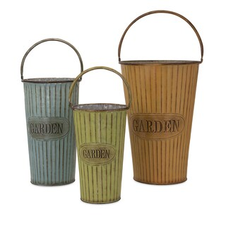 Alden Metal Flower Pots (Set of 3)