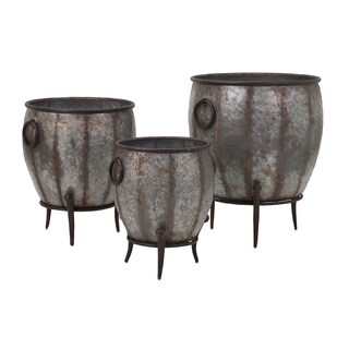 Mureilene Galvanized Planters (Set of 3)