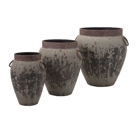 Argetile Rustic Planters (Set of 3)