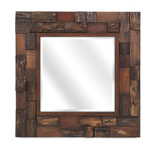 Lloyd Wood Slat Mirror - Brown - A/N