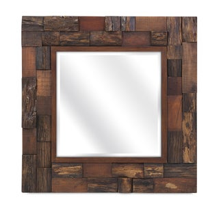 Lloyd Wood Slat Mirror - Brown