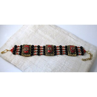 Red Artisan Crafted Bracelet