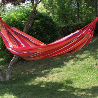 Adeco Cotton 1-person Naval Red Stripe Hammock