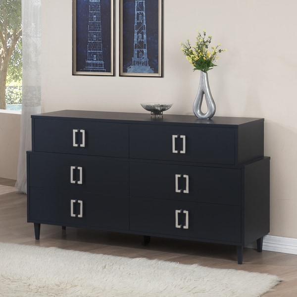 Carson Carrington Navy Empire 6-drawer Dresser