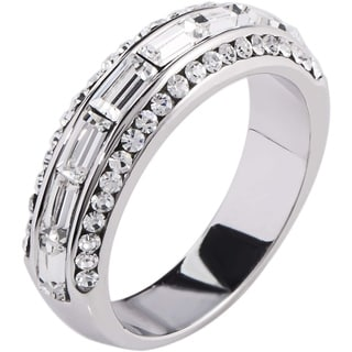 Simon Frank 2.43ct TDW Baguette-cut Channel Set CZ Band Ring