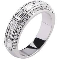 Simon Frank Designs 2.43ct.Baguette-cut Channel set CZ Ring - Silver