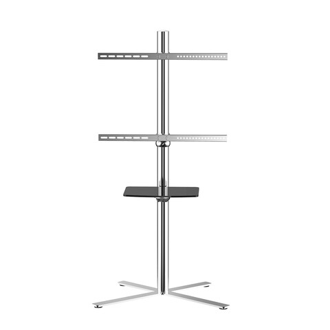 Loctek TV Universal Flat Panel TV Steel Mobile Cart with 32 to 60-inch Mounting Bracket, with Shelf and Casters