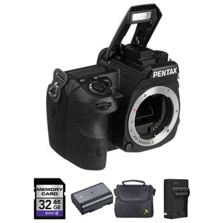 Pentax K-3 Digital SLR Camera - Black (Body) + 2 Batteries, 32GB Bundle