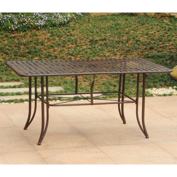 48 Inch Wide Rectangular Dining Table: Shop International Caravan Mandalay Iron 63-inch By 39