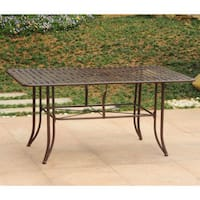 International Caravan Mandalay Iron 63-inch by 39-inch Rectangular Dining Table