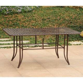 International Caravan Mandalay Iron 63-inch by 39-inch Rectangular Dining Table