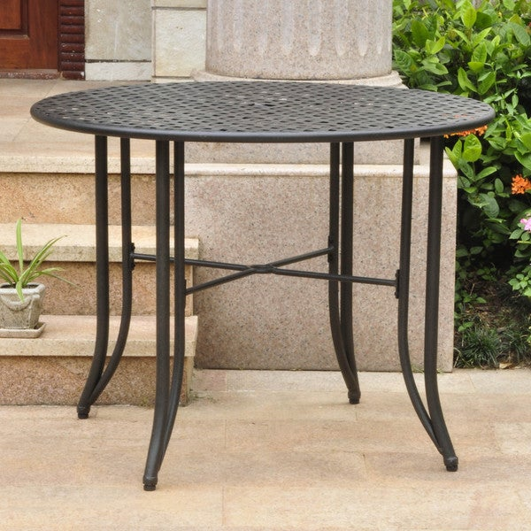 Outdoor Patio Table Sale: Shop International Caravan Mandalay Iron 39-inch Round