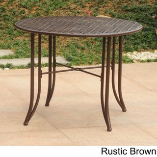 International Caravan Mandalay Iron 39-inch Round Dining Table (4 options available)
